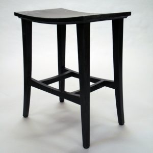 custom built wood mortise and tenoned Espresso Stool