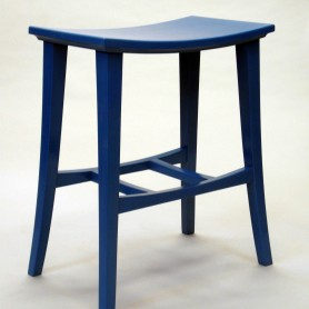 custom built wood mortise and tenoned Sky Blue Stool